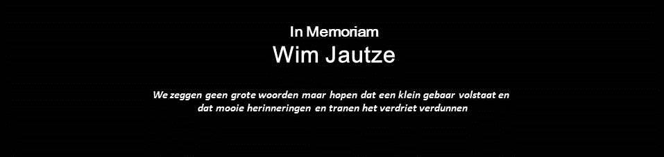 Wim Jautze overleden